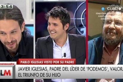 ¿Pablo Iglesias quiere ser la nueva Belén Esteban? Así fue la ñoña' llamada de su padre en Cuatro
