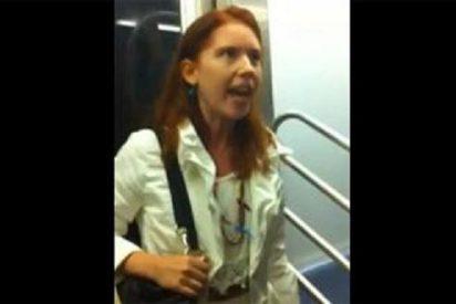 El vídeo del pervertido sexual que enseña su pene con un condón en el metro