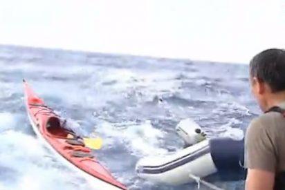 Se hunde 'La Volta a Sa Dragonera' por la gran tormenta: rescate masivo de piragüistas
