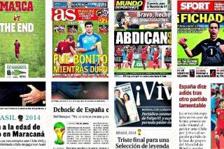 La prensa mundial sobre la Selección Española de Fútbol alias 'La Roja': Fue bonito mientras duró