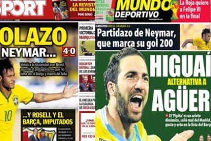 Mundo Deportivo se queda solo en su afán por tapar los escándalos de Rosell: hasta Sport lleva en portada el fraude fiscal del fichaje de Neymar