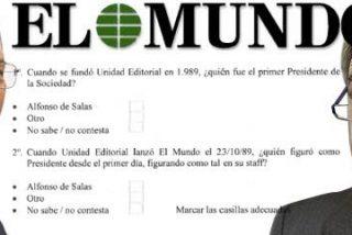 Alfonso de Salas se chotea sin piedad de Galiano por querer prohibirle usar el término Presidente Fundador de El Mundo