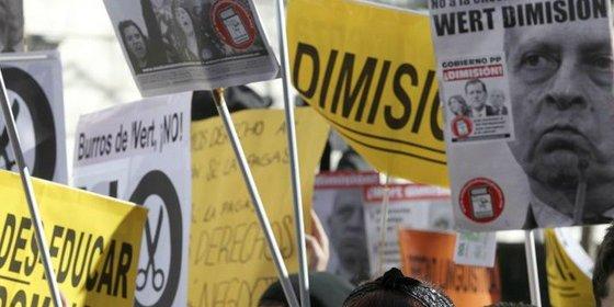 """Los estudiantes anuncian """"contundentes"""" protestas para que Wert se olvide del copago educativo"""