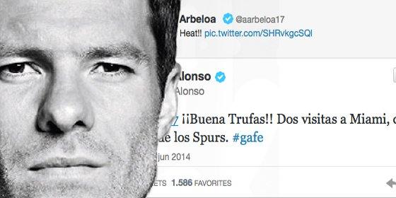 Xabi Alonso llama gafe a Arbeloa en Twitter