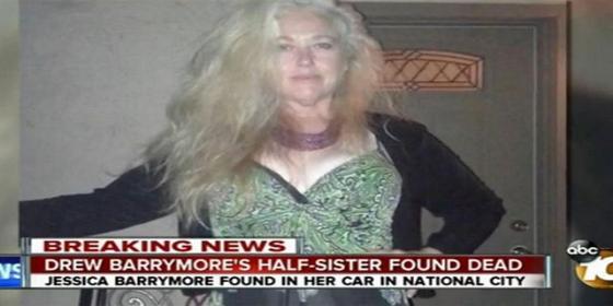 Encuentran el cadáver de la hermana de Drew Barrymore en un coche repleto de pastillas