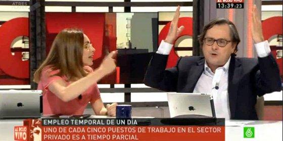 """La chillona exasesora de ZP saca de quicio a Marhuenda: """"¡Que sí Angélica, que con la derecha íbamos con taparrabos"""""""