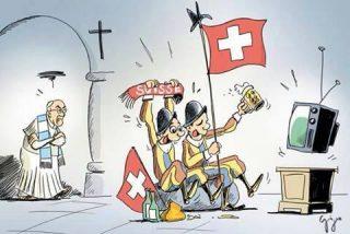 La Guardia Suiza quiere ver el partido con el Papa