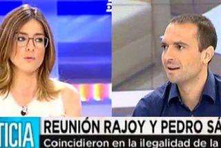 """Barneda le borra la sonrisa al 'Podemos boy' Luis Alegre: """"¿Pero vosotros qué planteáis?"""""""