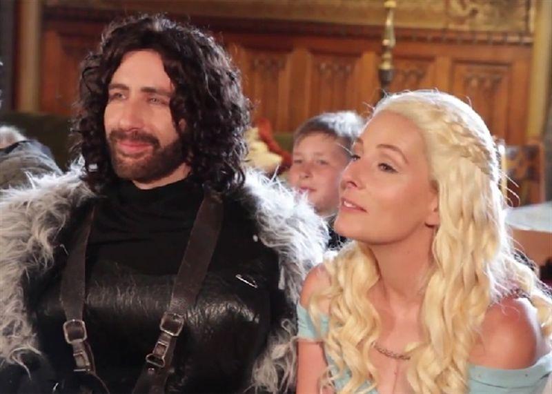 Una sorprendente boda al estilo de Juego de Tronos
