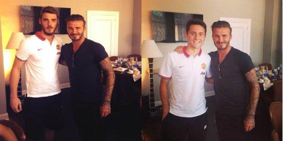Beckham visita a su ex equipo en Los Ángeles