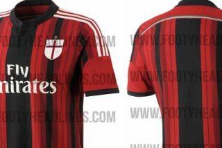 El Milan sorprende con tres escudos distintos en su tres camisetas