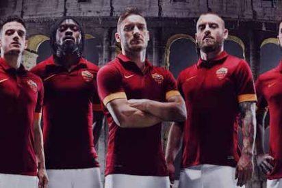 Así son las nuevas camisetas de la Roma
