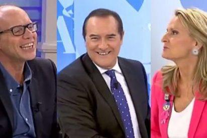 Los periodistas de 'El Cascabel' exigen el pago de 5.000 euros de Beatriz Montañez a Bertín Osborne
