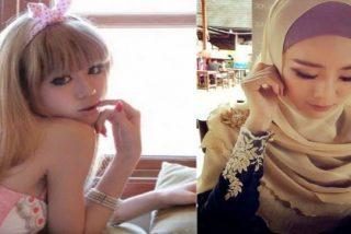 Felixia Yeap, conejita de Playboy, se arrepiente de sus pecados y se tapa con el velo islámico