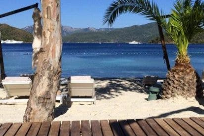 Courtois sube una foto del paraíso que veía desde su ventana en vacaciones
