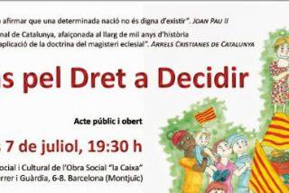Entidades cristianas catalanas convocan un acto de adhesión al Pacto Nacional por el Derecho a Decidir