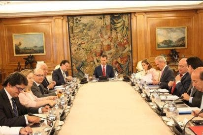 Felipe VI preside por primera vez como Rey la reunión del Consejo de Seguridad Nacional