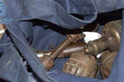 Halladas ocho granadas de mano de la I Guerra Mundial en un parking de Cáceres