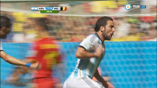 La Argentina de Higuaín gana a Bélgica y vuelve a semifinales de un Mundial 24 años después