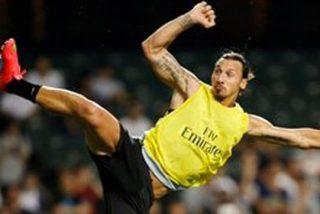 VÍDEO / El golazo de un Ibrahimovic que no se hace el 'sueco' ni en los entrenamientos