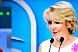 """Esperanza Aguirre acorrala a Pablo Iglesias: """"Repita usted conmigo: todos los etarras son unos asesinos"""""""