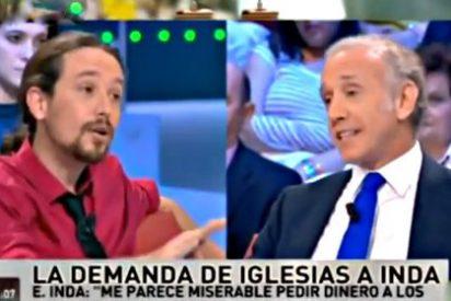 Nueva bronca entre el periodista Eduardo Inda y el 'veintemileurista' Pablo Iglesias