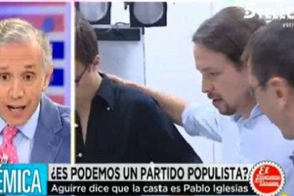 """Inda se pitorrea de Iglesias: """"Acierta comparándose con Clint Eastwood porque lo resolvía todo a tiros"""""""