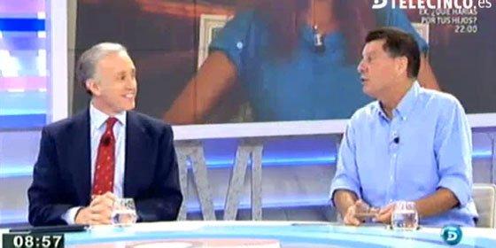 """Eduardo Inda y Alfonso Rojo bromean sobre Beatriz Montañez en Telecinco: """"Ha 'transgiversado' los datos y estamos preocupados"""""""