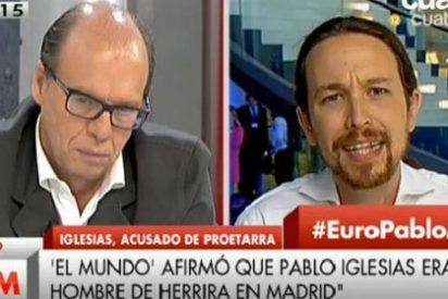 """Así reacciona Pablo Iglesias cuando González le recuerda su filia etarra: """"Eres mentiroso, manipulador y miserable"""""""