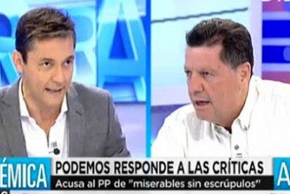 """Alfonso Rojo fulmina a un amodorrado Javier Ruiz: """"¿No te enteraste de lo que dijo Pablo Iglesias de ETA en el Ritz o estabas dormido?"""""""