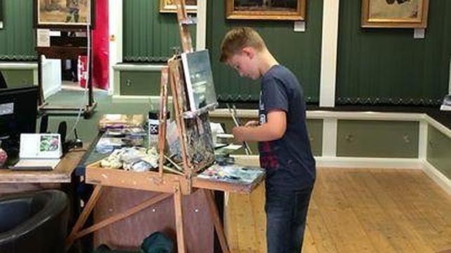 Un niño de once años, el 'Mini Monet', vende cuarenta pinturas por 500.000 euros