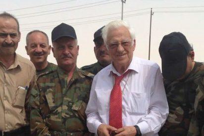 El padre Ángel, con los guardianos de los cristianos en Erbil y Mosul