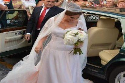 La mejor carta de presentación de Lourdes Montes fue su vestido de novia