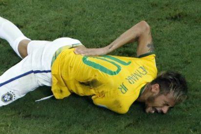 Neymar dice adiós al Mundial con una vértebra rota