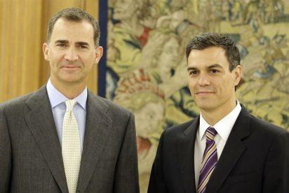El Rey Felipe VI recibe en una audiencia al nuevo secretario general del PSOE, Pedro Sánchez