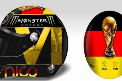 El espectacular casco de Rosberg para homenajear a Alemania