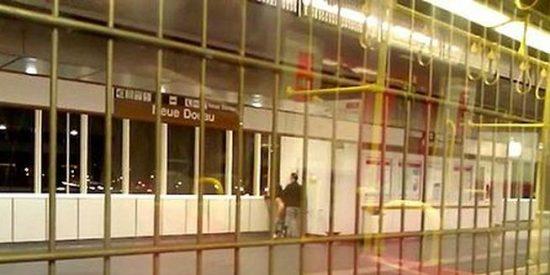 La grabación de la pareja que practica sexo a todo meter en una estación de metro
