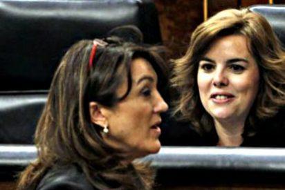 La Soraya vicepresidenta da un repaso a la Soraya portavoz del PSOE