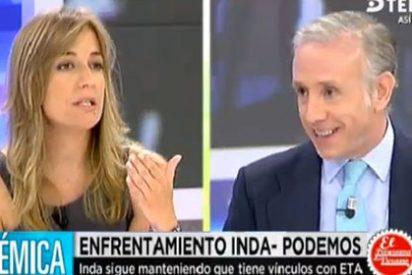 """Inda reparte estopa a la novia de Pablo Iglesias: """"A ti lo que te gustaría es que cerraran El Mundo"""""""
