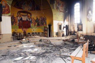 Un misil contra una iglesia de Alepo causa tres muertos