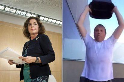 El socialista Antonio Miguel Carmona reta a la popular Ana Botella a 'mojarse' con el 'cubo helado'