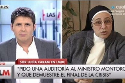 El 'sermón' de Sor Lucía contra Rajoy en la Cuatro TV de Cintora desata el cachondeo en Twitter