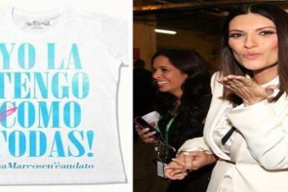 """""""Yo la tengo como todas"""": la 'patatera' frase de Laura Pausini está ya hasta en las camisetas más cutres"""