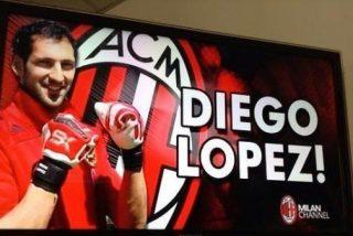 Diego López se 'traga' un gol desde el centro del campo en su debut con el Milan