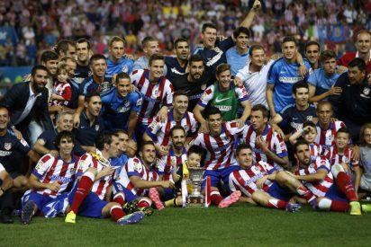 Asi festejan en Twitter los jugadores del Atlético de Madrid su Supercopa de España