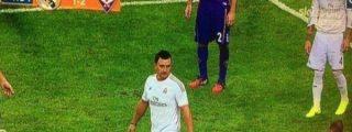Un espontáneo vestido de Cristiano Ronaldo estuvo a punto de jugar el Real Madrid-Fiorentina