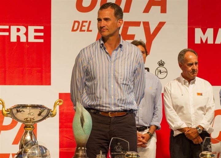 El Rey Felipe VI preside la entrega de premios de la 33 Copa del Rey de vela