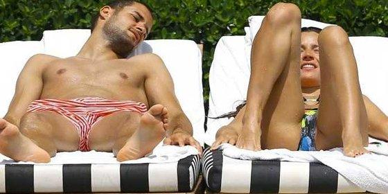 La bella modelo no hará nunca más topless tras ser pillada por los paparazzi