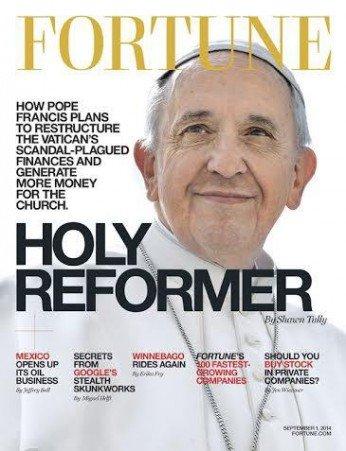 El Papa en la portada de Fortune