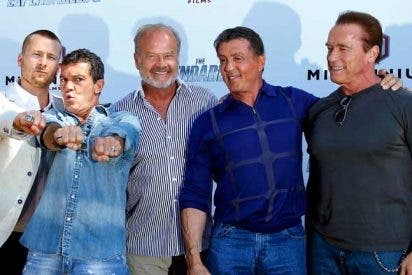 """LLegan a España pegando tiros y repartiendo estopa """"Los mercenarios 3"""""""